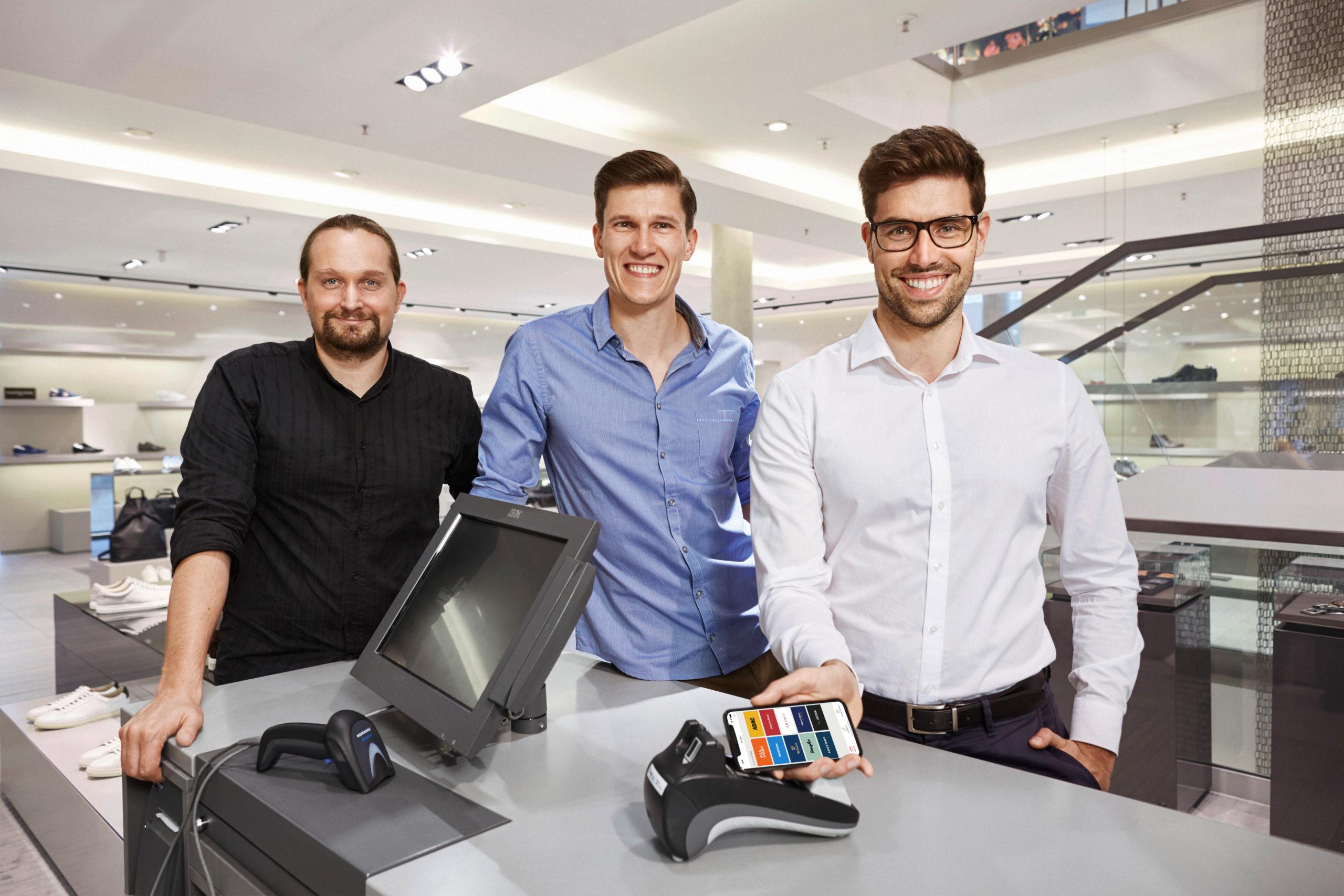 Die Gründer des Startups Stocard.